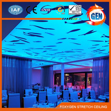 printed Removable plastic false ceiling pvc board with pvc stretch ceiling profile for ceiling and wall decoration