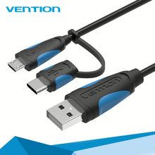 Quality assurance 2016 cheap price Vention 2 in 1 usb cable kit