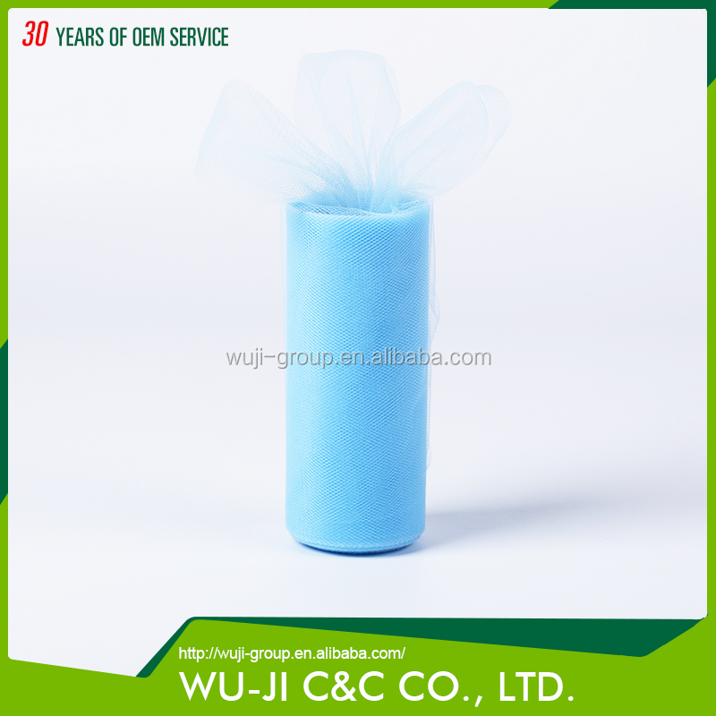 Wholesale China factory turquoise solid color tulle overskirt wedding dress