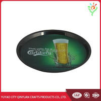 Non-slip plastic tray, plastic serving tray for wine