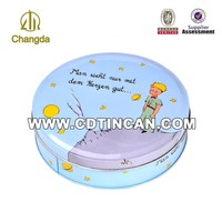 Luxury Chinese Facotry mini round christmas tin gift
