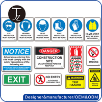 Customized design various plastic and metal safety sign symbol