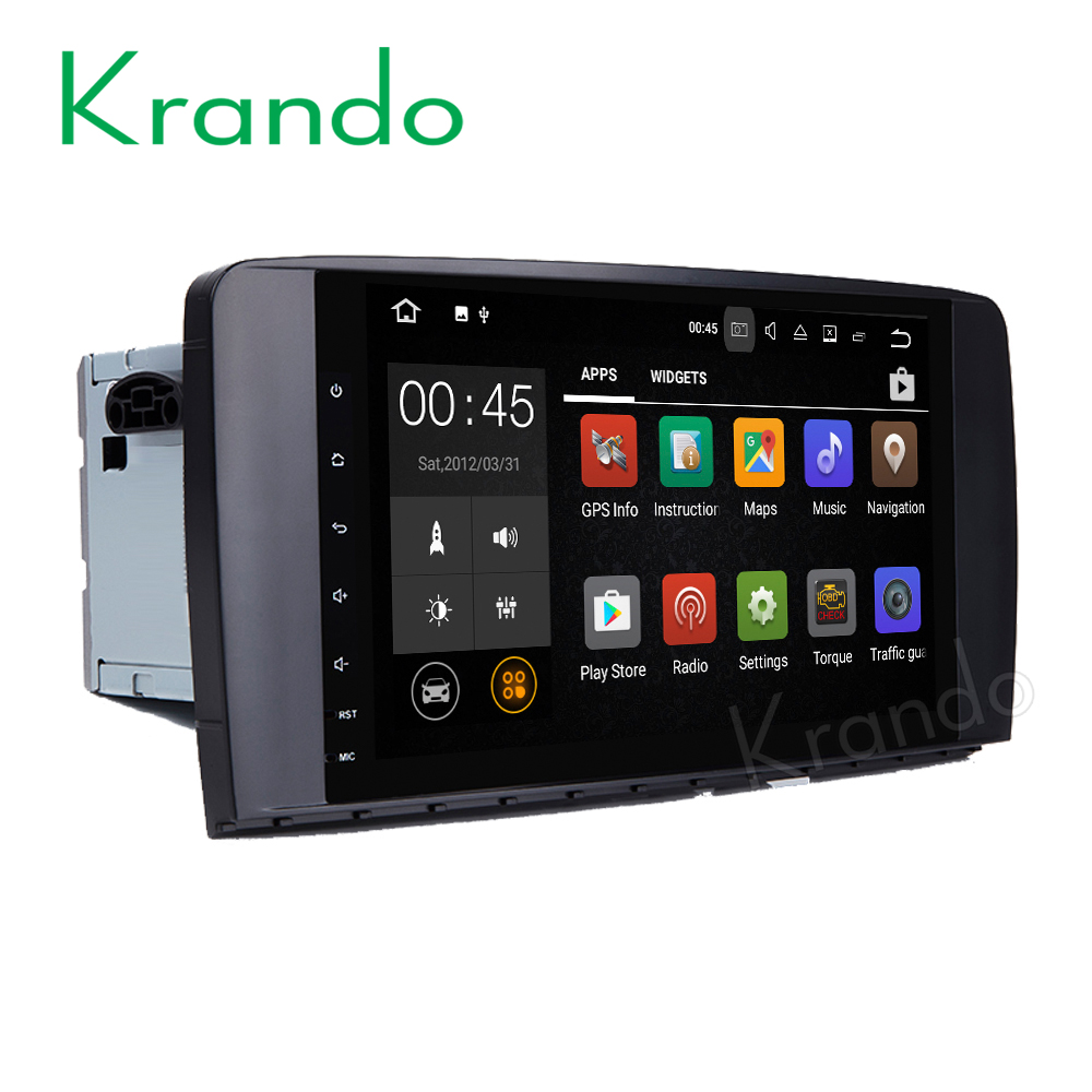 Krando <strong>Android</strong> 7.1 9'' full touch screen car audio player entertainment for Benz ML Class <strong>W164</strong> gps navigation system KD-MB914
