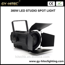 Factory price 300W LED Fresnel Light warm/cool 3000-7000K Video Studio Spotlight par light