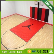 Eco-friendly PP Material Wood Indoor Basketball Court Flooring