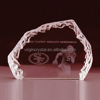 Wholesale new design crystal sports trophy crystal sports icenerg for souvenir gift