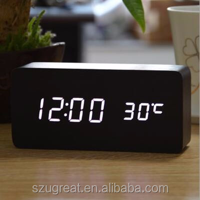 Wholesale Good Quality bamboo alarm clock