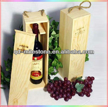 Portable Antique Wooden Wine Case for One Bottle