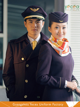 New design Fashionable Aircraft commander/Captain Airline Flight Attendant Uniform Wholesale &Customized logo