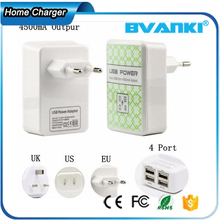 China Wholesale Comfort Personalized Design Quick Charge 5V 4A USB Charger Multi-port Wall USB Charger 4 Ports