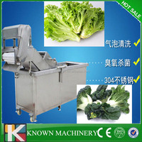 Convenient connection water saving high efficiency commercial vegetable washing machine / vegetable washer for sale