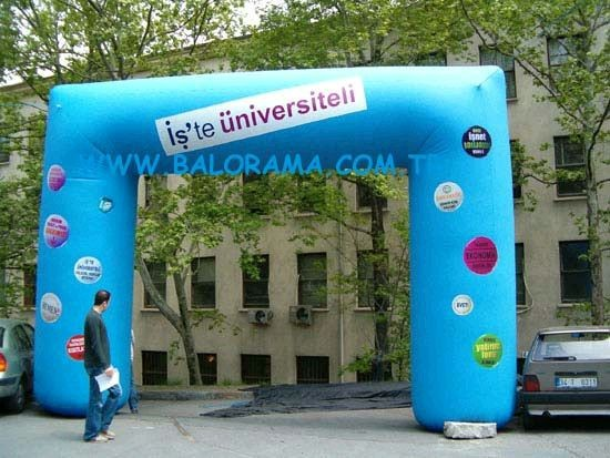 8 MT SQUARE INFLATABLE ARCH, printed advertising balloons