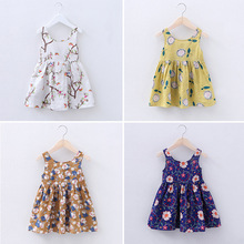 2017 Summer New Infant Dress With Sleeveless Girls Birthday Dresses Fashion Cotton Baby Kids Clothes