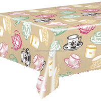 Lovely colorful table cover and picnic custom plastic table cloth