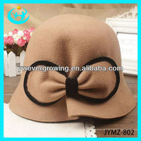 bucket hat lady bowknot hat