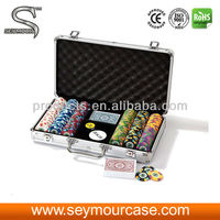 Professional Aluminum Poker Chip Case With 300 Capacity