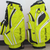unique design yellow golf bag stand attachment