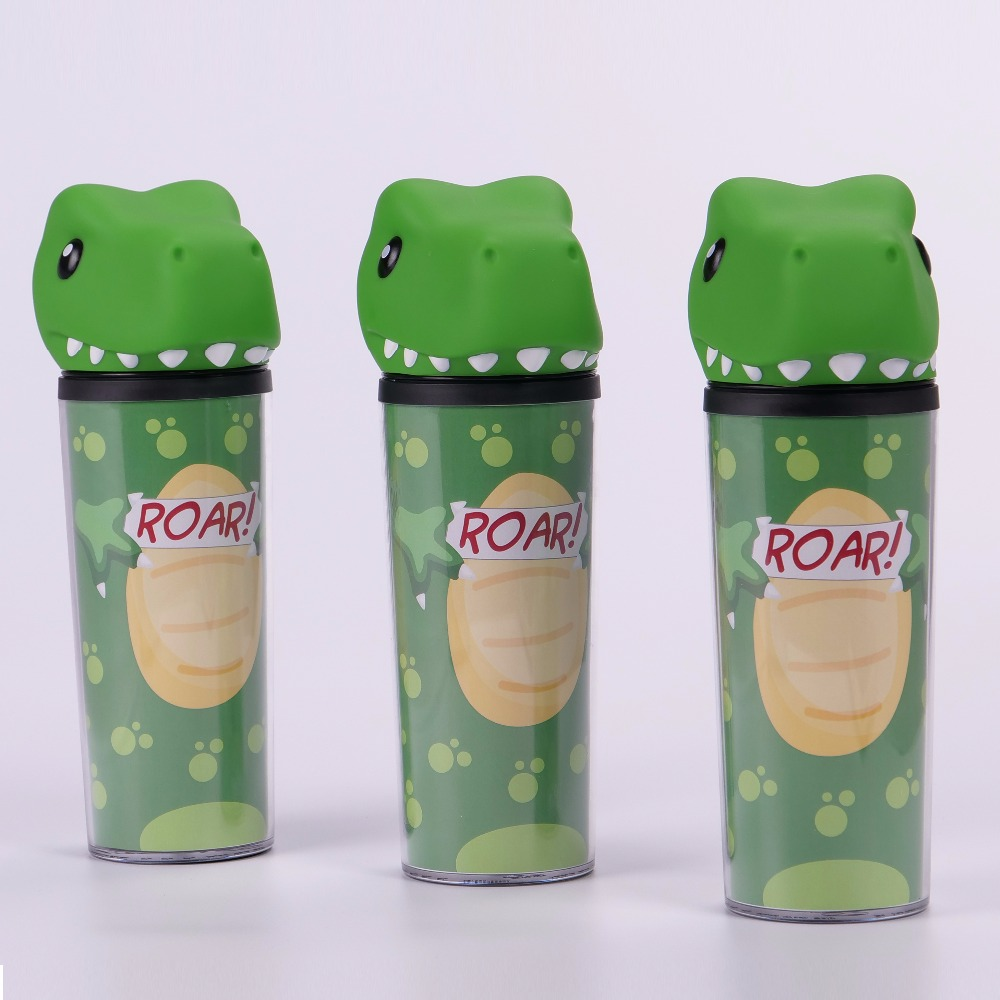 Wholesale 350ml Animal Shaped Plastic Cup