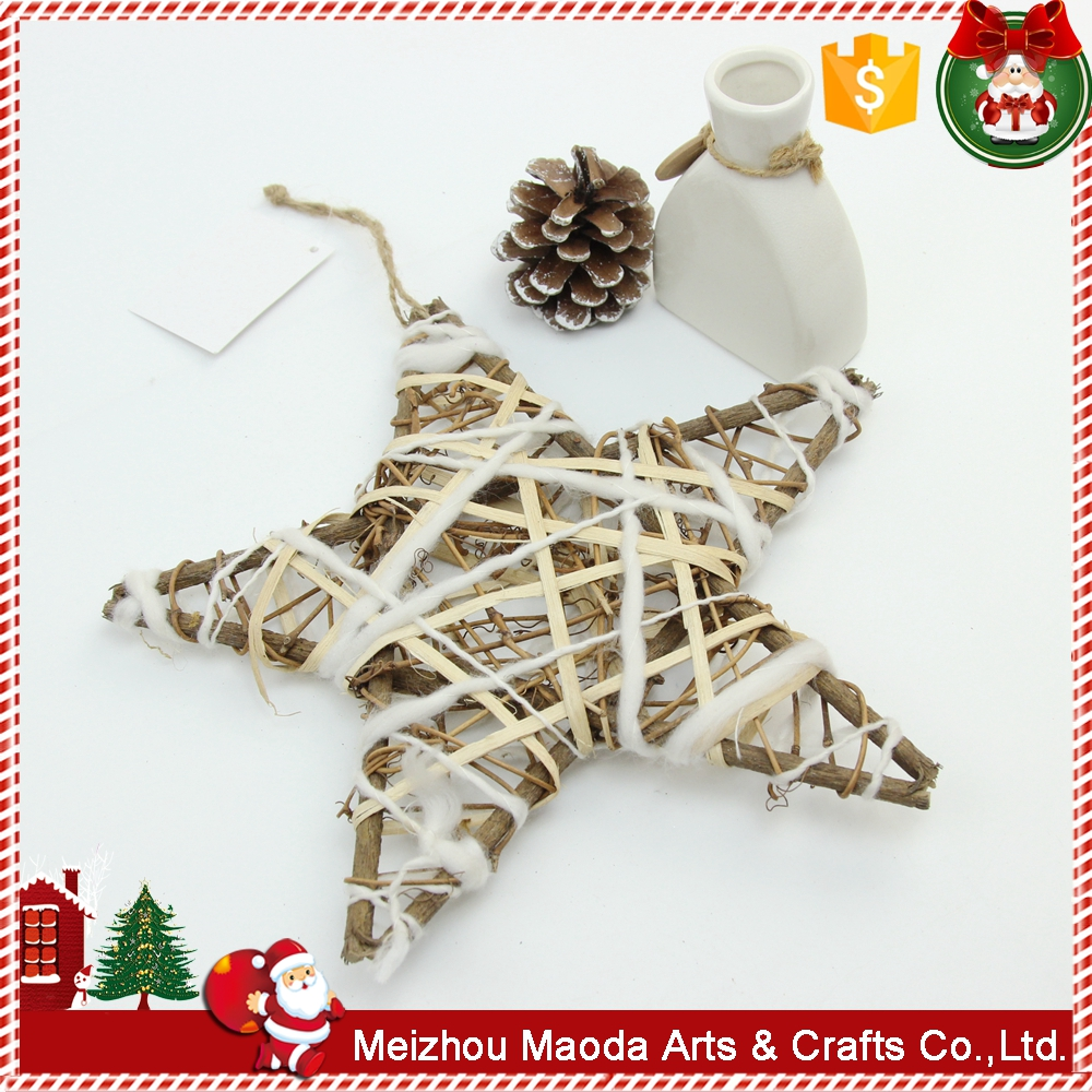 Manufacturer rattan wood craft Wrapped rattan christmas outdoor decorations