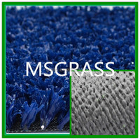 Economical Blue Tennis court artificial grass decoration crafts