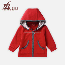 Senbodulun 3-12months/1-3T High Quality 100%Cotton Detachable Cap Long Sleeve Zipper Baby Clothes