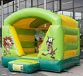 HOLA green animal style inflatable bouncer/cheap bounce houses