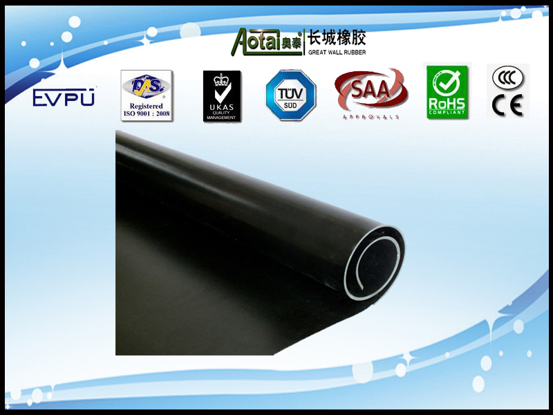 Great Wall Fabric surface Hypalon rubber sheet black Hypalon rubber