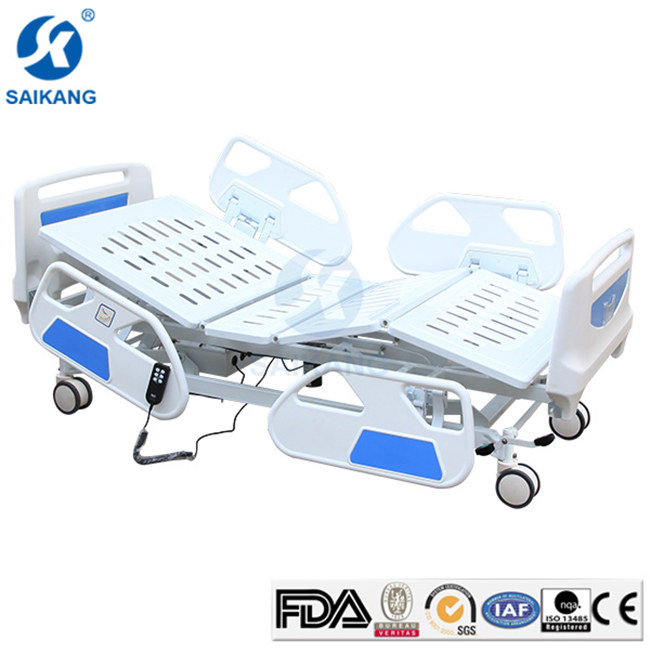 SK002-8(3) Patient Three Functions Electric Adjustable Icu Hospital Medical Automatic Sick Bed For Eldly
