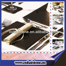 Wholesale kitchen dinnerware series slate stone anti-slip mats tables
