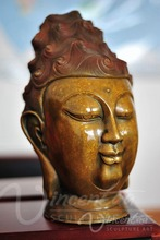 outdoor decoration metal large buddha head statues for sale