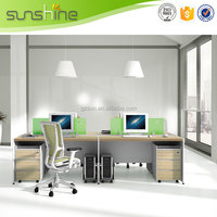 Fashion MFC 3 Person Office Workstation,Office Furniture For Russia Market