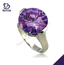 Wholesale jewelry rings with purple zircon gamstone for women