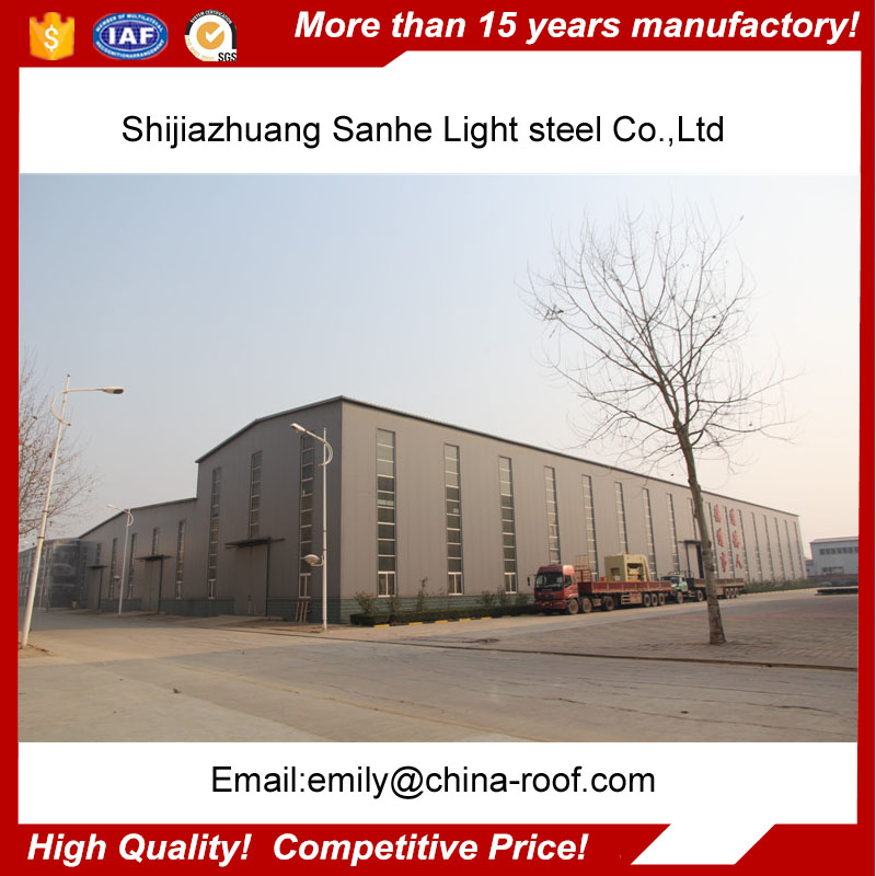 Prefabricated Steel Warehouse / Steel Structural Plant Project