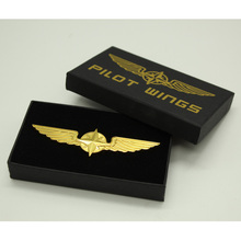 Custom metal wings pin badges/airplane pin /good quality airplane badge made in China