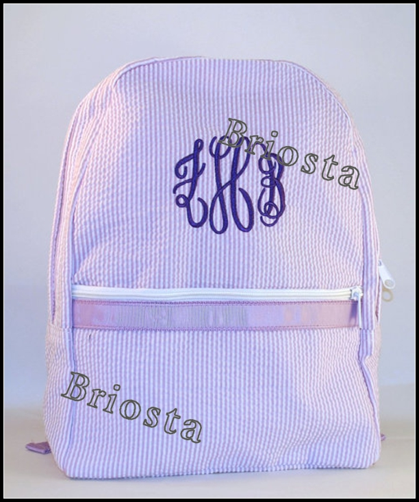 Boutique Cute Kids Traveling Seersucker Backpack Wholesale
