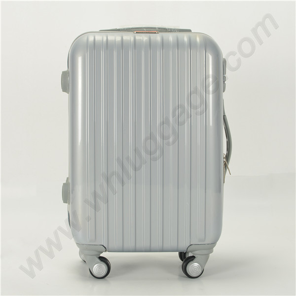 Top quality white ABS luggage, abs trolley luggage suitcase