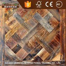 Art reclaimed wood tile and antique style Reclaimed elm parquet engineered wood flooring