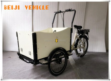 CE 250W front loading pedal car cargo bicycle battery electric vehicle for cargo