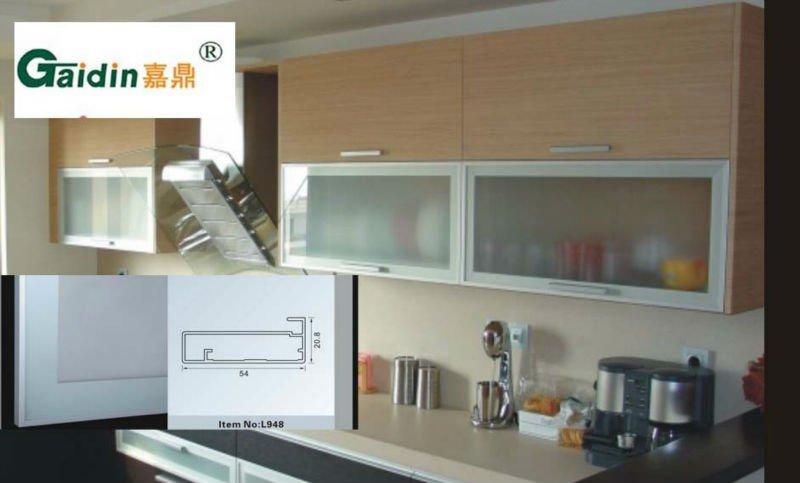 bastidor del gabinete de cocina de aluminio / aluminio perfiles de ...