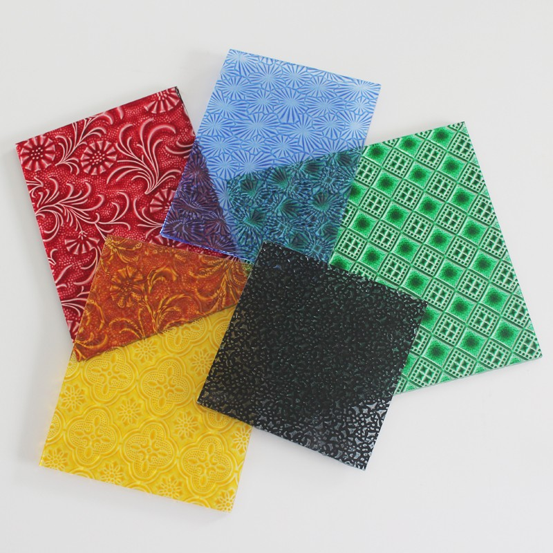 Wholesale Nano Coating Color Tinted Pattern Glass