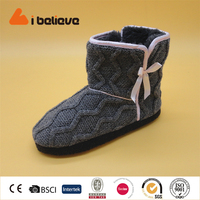 High Indoor Boots hot sales europe cute knitted indoor boot for lady