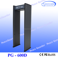walk through metal detector with high sensitivity HOT SALE metal detector gate for security check PG-600D