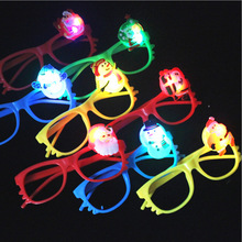 Christmas LED Flashing Glasses Glowing Glasses Light Up Toys Children Gift Christmas Birthday Glow Party Supplies