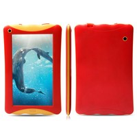 New Product for 2015 RAM 1GB ROM 8GB dual camera android 4.4 RK3126 Quad Core kid proof silicone kids 7 inch tablet case