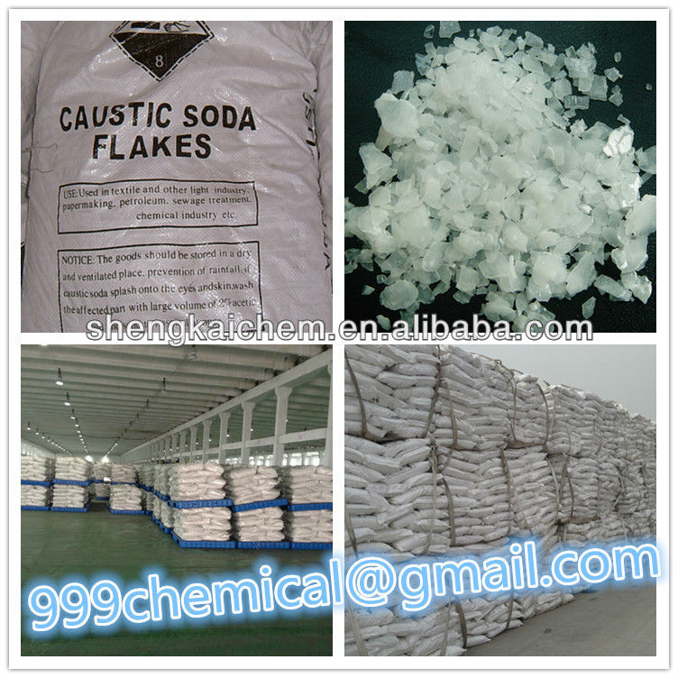 caustic soda flakes used in soap production
