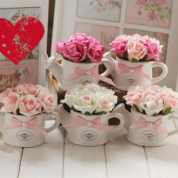 attractive wedding home decor artificial flower rose with