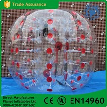 Factory Wholesale Inflatable Red Bubble Bumper Ball Rent