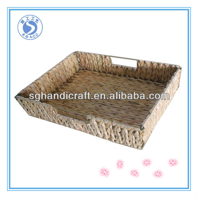 designed straw woven basket