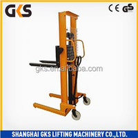 High quality and cheap manual/hand pallet hydraulic stacker for wide use