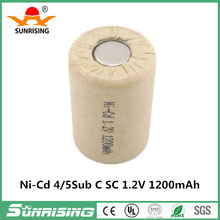 Ni-Cd rechargeable batteries SC 4/5 1200MAH 1.2V for cordless drill